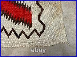 Vintage 5x7 Navajo Rug Eyedazzler wool weaving Native American handwoven