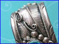 Vintage 86gr Signed Native American Navajo 925 Silver Turquoise Cuff Bangle
