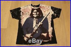 Vintage 90s Mosquitohead Geronimo T-Shirt Size XL Apache Native American Tee VTG