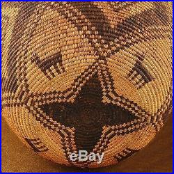 Vintage Antique 1880s-1890s Authentic Apache Style Hand Coiled OLLA Basket