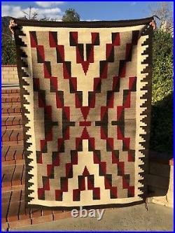 Vintage Arizona Navajo Rug Large Native American Indian Textile 69 By 44