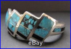 Vintage BEN NIGHTHORSE CAMPBELL Cheyenne Sterling Turquoise & Lapis Bracelet