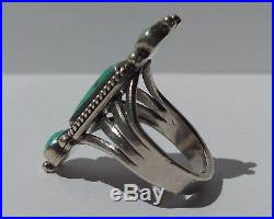 Vintage Beauty Navajo Indian Sterling Silver Turquoise Ring
