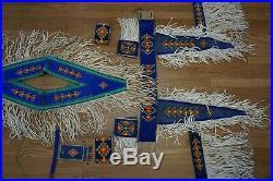 Vintage Blackfoot Native American Beaded Powwow Dance Regalia 9 Pieces Canadian