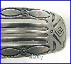 Vintage Fred Harvey Era Repousse Stamped Arrows Sterling Silver Cuff Bracelet