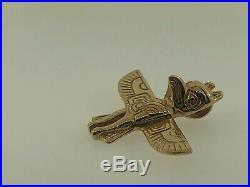 Vintage Kabana 14K Yellow Gold Peyote Bird Southwestern Native American Pendant