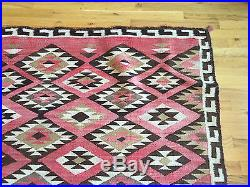 Vintage Large Authentic Navajo Rug Circa Early 1900's