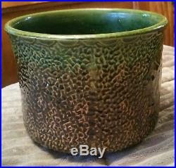 Vintage Minty Brush Mccoy Art Pottery Native American Indian Jardiniere Vase