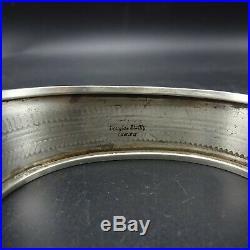 Vintage NAVAJO Hand-Stamped Sterling Silver MORENCI TURQUOISE Cuff BRACELET