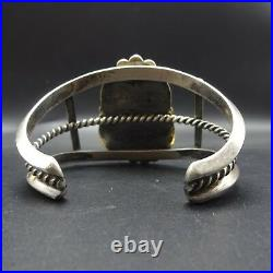 Vintage NAVAJO Sterling Silver & ROYSTON TURQUOISE Cuff BRACELET 65.9g
