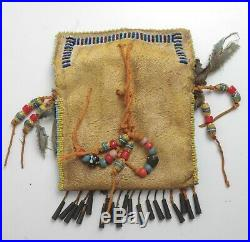 Vintage Native American Beaded Medicine Bag Sioux Lakota