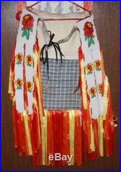 Vintage Native American Beaded Powwow Dance Regalia 11 Pieces Free Shipping
