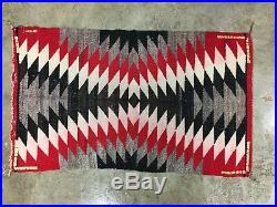 Vintage Native American Indian 24.5 x 40.5 Saddle Rug Blanket ethnic tapestry