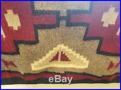 Vintage Native American Indian Navajo Rug Blanket 3' 3.5 x 5' 6 Nila J Begay