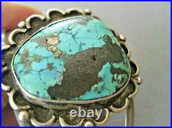 Vintage Native American Indian Navajo Turquoise Sterling Silver Cuff Bracelet