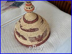 Vintage Native American Indian Whaler's Chief Maquinna basket Hat Museum Piece