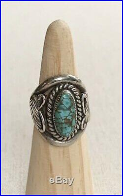 Vintage Native American Navajo Ring Lot of 6 Turquoise Jasper Old Pawn Jewelry