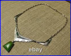 Vintage Native American Navajo Sterling Silver Turquoise Necklace