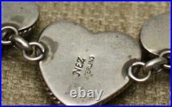 Vintage Native American Navajo Turquoise Sterling Silver Bracelet Michael Nez