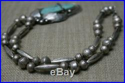 Vintage Native American Navajo Turquoise Sterling Silver Necklace
