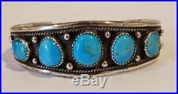 Vintage Native American Sterling Silver Bracelet Lot
