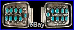 Vintage Native American Sterling Silver & Turquoise Watch Band Tips