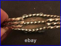 Vintage Native Navajo Sterling Silver Turquoise Cuff Bracelet