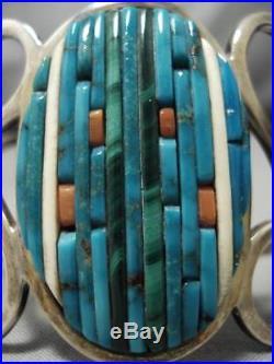Vintage Navajo Charles Loloma Pete Sierra Sterling Silver Turquoise Bracelet Old