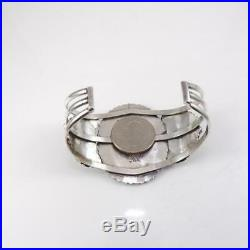Vintage Navajo Larry Moses Begay Sterling Silver Turquoise Cuff Bracelet LFL4