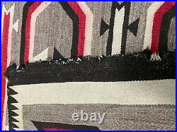 Vintage Navajo Native American Crystal Rug Blanket Dazzler Weaving 56x41