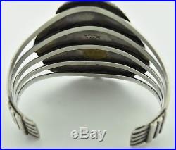 Vintage Navajo Native American Sterling Silver Turquoise Cuff Bracelet Johnson