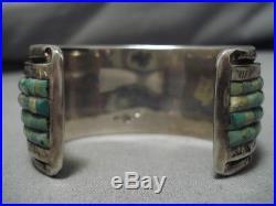 Vintage Navajo Royston Turquoise Bracelet Les Barker Sterling Silver Bracelet