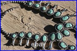 Vintage Navajo Squash Blossom necklace. NO RESERVE. Great stones