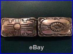 Vintage Navajo Sterling Silver 16 Concho Belt Signed Vincent James Platero VJP