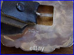 Vintage Navajo Sterling Silver Turquoise Cluster Concho Belt