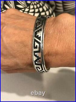Vintage Navajo Tommy Singer Sterling Silver Cuff Bracelet