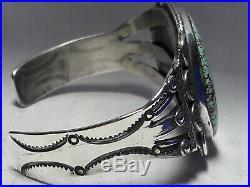 Vintage Number 8 Turquoise Sterling Silver cuff bracelet 40.4 grams