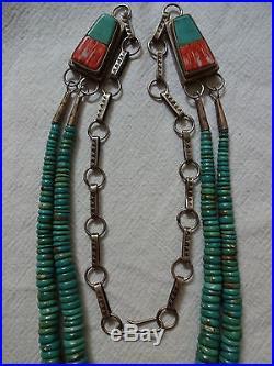 Vintage ORLANDO CRESPIN Santo Domingo KEWA Sterling Silver & TURQUOISE Necklace
