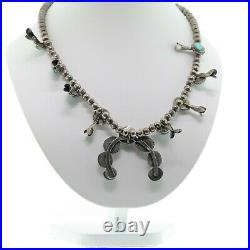 Vintage Old Pawn Native American Squash Blossom Necklace