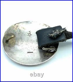 Vintage Old Pawn Navajo Sterling Silver Concho belt