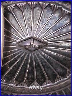 Vintage Old Pawn ZUNI Sterling Silver TURQUOISE Belt BUCKLE estate find
