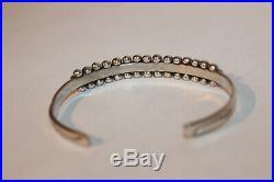 Vintage Old Pawn Zuni Snake Eye Sterling Silver Turquoise Cuff Bracelet