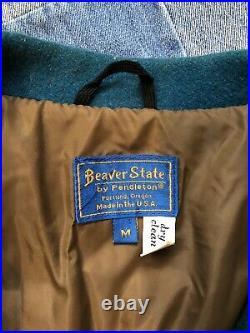Vintage PENDLETON Beaver State Aztec Western Native American Wool Jacket Medium