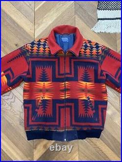 Vintage Pendleton High Grade Western Wear Wool Native Aztec Southwest Jacket L