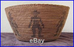 Vintage Pictorial Figural Pima Basket (cowboys) #679