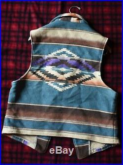 Vintage Polo Ralph Lauren Native American Chimayo Vest Size L USA Made RRL Aztec