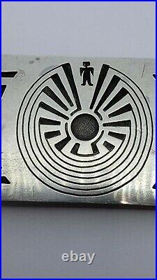 Vintage Sterling Silver Hopi Man in the Maze Belt Buckle, Signed