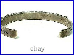 Vintage Sterling Silver Native American Turquoise Cuff Bracelet