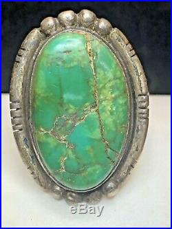 Vintage Sterling Turquoise Ring Navajo Native American Old Pawn Signed Ramona
