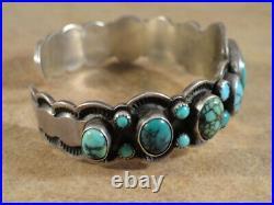 Vintage Stunning Navajo Turquoise & Sterling Silver Bracelet Johnson